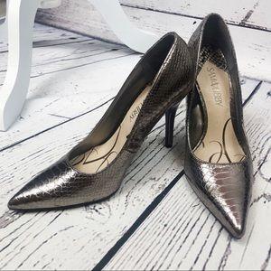 Sam & Libby Rose Gold Metallic Heels